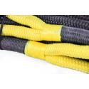 Lina kinetyczna Black Mamba nylon66 28mm x 8 m, MBL 16,5T, poliuretanowe pętle
