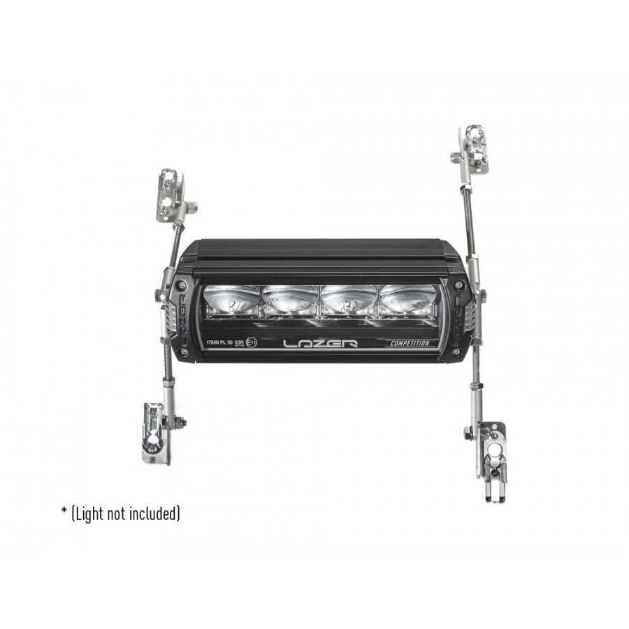 Uniwersalny zestaw montażowy jednej lampy LAZER - na masce auta