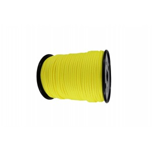 Synthetic rope 6 mm, yellow, MBL 3.6T