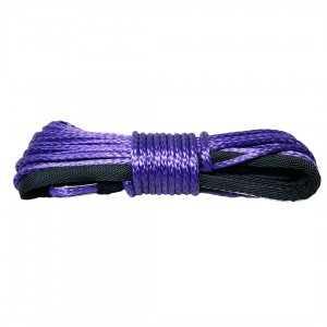 Lina syntetyczna 5 mm x 15 m, Purple z kauszą 2.9T