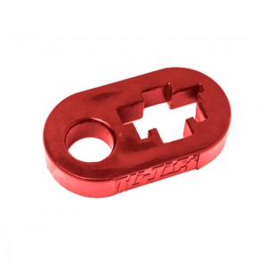 Rubber lever lock Hi-Lift red