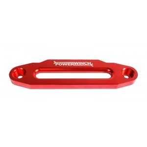 Red aluminum hawse fairlead with LOGO