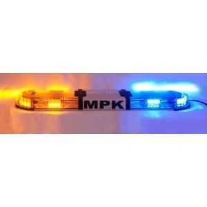 Lampa zespolona Haztec Xpert Corner LED, 1229mm, 12/24V, 4x narożne + 8x środkowe pomarańczowe/niebieskie moduły LED, przezroczy