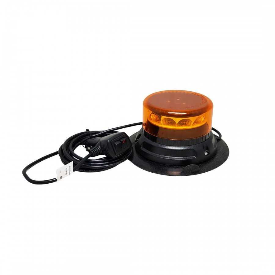 Lampa pojedyncza LED C12 MIRAGE, pomarańczowa, mocowanie magnetyczne 12/24V, R65