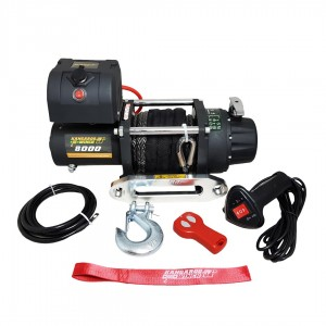 Kangaroowinch K8000E 12V synthetic rope