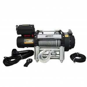 Wyciągarka PW18000 24V, bez liny stalowej, z prowadnicą rolkową