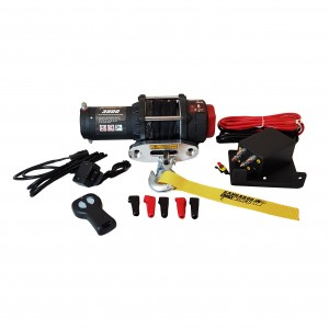 Kangaroowinch K3500SR 12V with synthetic rope and remote controller