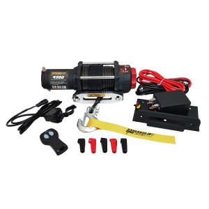 Kangaroowinch K4500SR 12V with synthetic rope and remote controller
