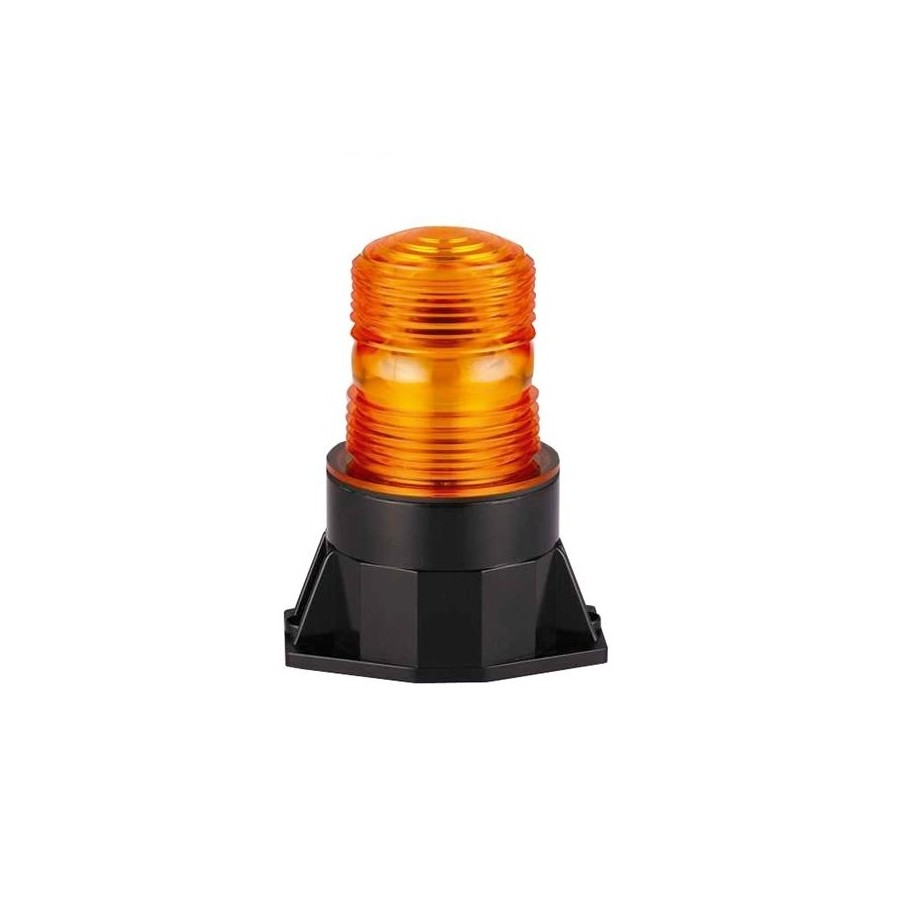 Pojedyncza lampa stroboskopowa, 10-30V, mocowanie 2pkt, pomarańczowa