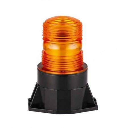 Single strobe light, 10-30V, mouting 2 point, orange