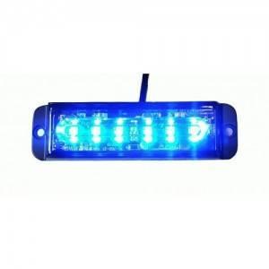 Lampa strobo 6 LED blue R10 R65