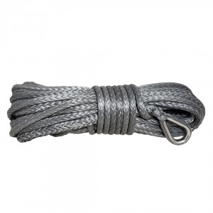 Violet rope 9 mm x 25 m. with thimble and loop, MBL 8.5T