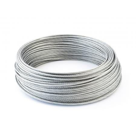 Galvanized steel rope 8 mm x 30 m. (Thimble)
