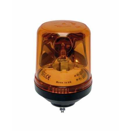 A single rotator lamp LAP 121, 12V, mouting 1-point, orange