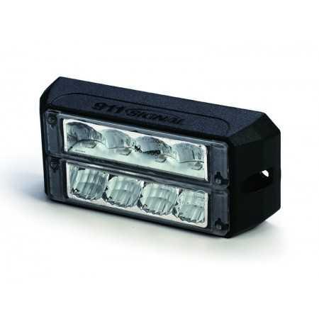 Lampa kierunkowa MicroLED C4D WASP, 2 rzędy, niebieska , powierzchniowa, 12/24V, R65