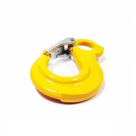 Hak oczkowy z zabezpieczeniem WLL1.12T MBL 4.48T żółty