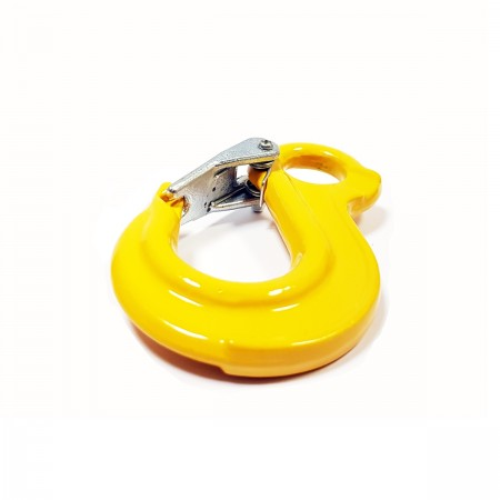 Sling hook with latch WLL1.12T MBL 4.48T yellow