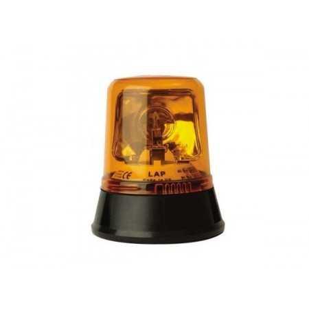 Pojedyncza lampa rotatorowa LAP 254, 12V, mocowanie 3 pkt., pomarańczowa, R65