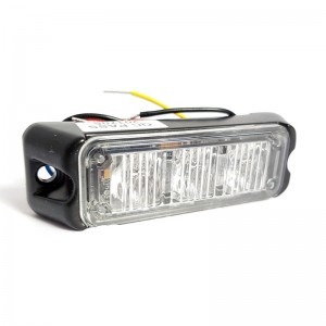Lampa kierunkowa Haztec 3x LED 12/24V niebieska wbudowany flaszer, R65