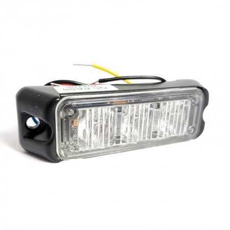 Lampa kierunkowa Haztec 3x LED 12/24V niebieska, wbudowany flaszer, R65