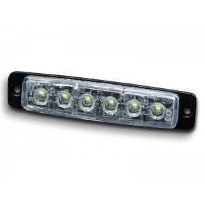 Lampa kierunkowa MicroLED F6 pomarańczowa , powierzchniowa, 12/24V, R65