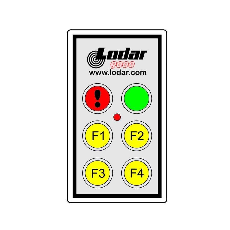 Pilot (nadajnik) sterowania radiowego LODAR 12-24V, 2-funkcyjne