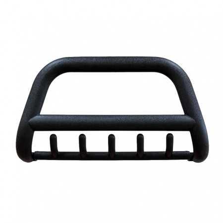Orurowanie przednie z poprzeczką i grilem Volkswagen Amarok, homologacja, stal nierdzewna, czarny mat, rura 90mm