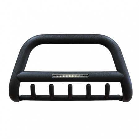 Orurowanie przednie z poprzeczką i grilem Volkswagen Amarok, homologacja, czarny mat, rura 90mm, światła LED