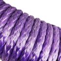 Lina syntetyczna 8 mm x 25 m, Purple z kauszą, MBL 6,8T