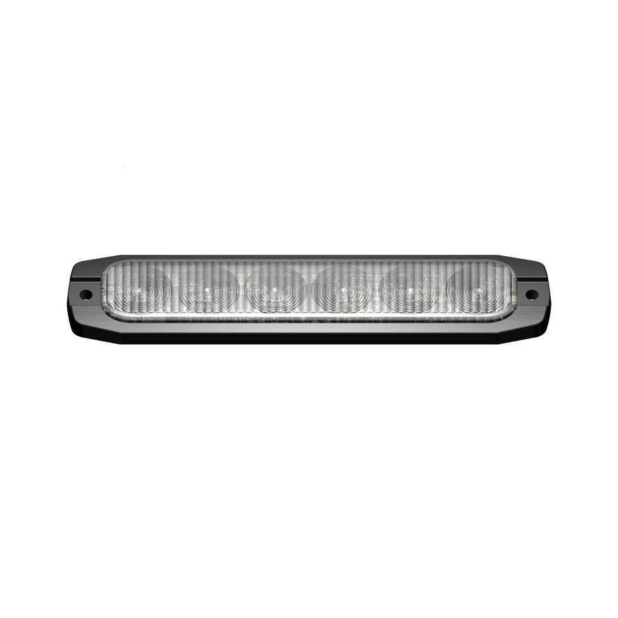 Lampa kierunkowa FIN6 LED niebieska , powierzchniowa, 12/24V, R65