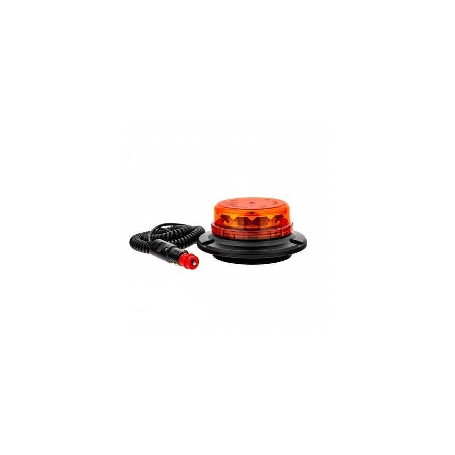 Lampa pojedyncza LED LPB020, pomarańczowa, mocowanie magnetyczne, 12/24V, R65