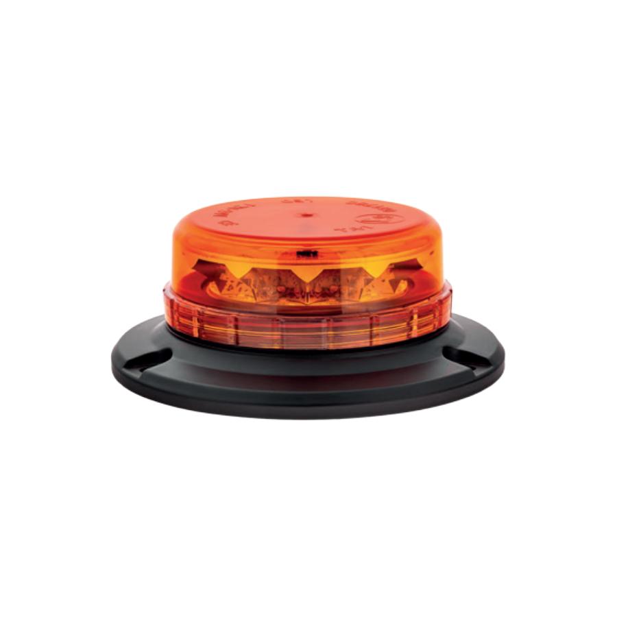Lampa pojedyncza LED LPB050, pomarańczowa, mocowanie 3-punktowe, 12/24V, R65