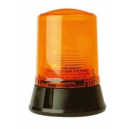 Pojedyncza lampa lotniskowa LAP222, 24V, mocowanie 3pkt, pomarańczowa