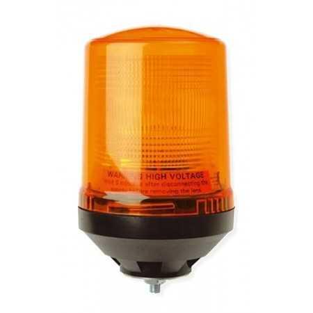 Pojedyncza lampa lotniskowa LAP225, 12V, mocowanie 1-punktowe, pomarańczowa