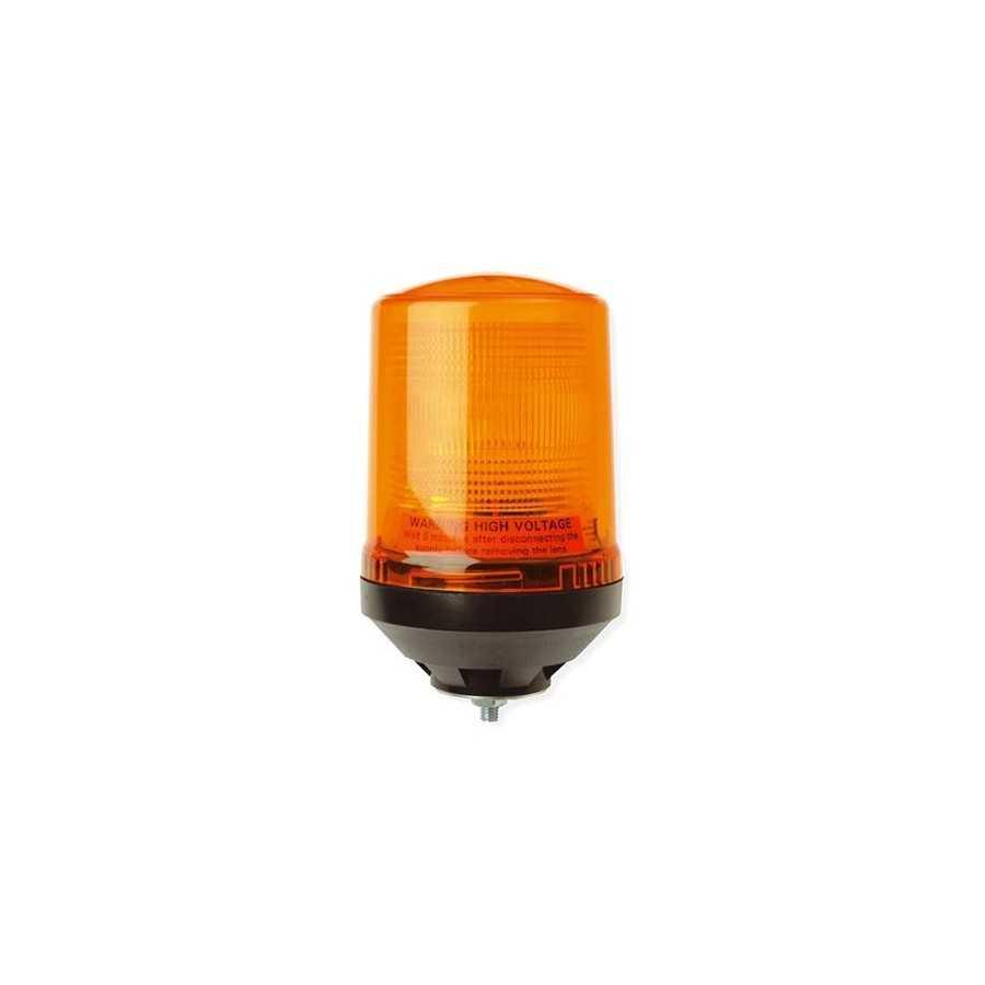 Pojedyncza lampa lotniskowa LAP221, 12V, mocowanie 3pkt, pomarańczowa