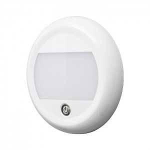 Lampa wewnętrzna LAP LED Interior Lamp Round z przełącznikiem - 12/24V