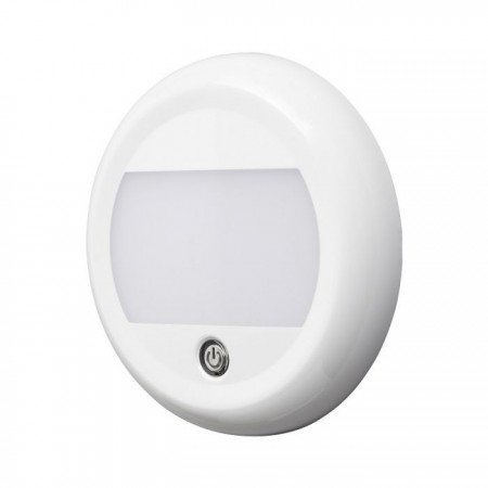 LAP LED Interior Lamp Round with Touch Switch - 12/24V