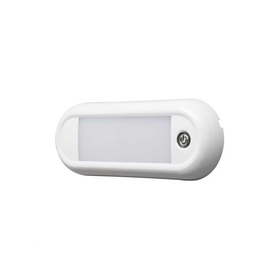 Lampa wewnętrzna LAP LED Interior Lamp Rectangle z przyciskiem - 12/24V