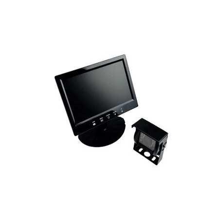 """LAP - System kamer cofania (monitor 7,0"""" z możliwością nagrywania obrazu, kamera tylna z diodami podczerwieni + kabel 20m)"""