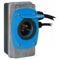 Szybki Wyjazd KUSSMAUL Super Auto Eject - wtyczka i gniazdo automatyczne 230V AC, 15A, 24V DC , niebieska klapka