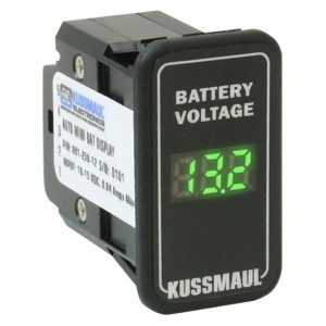 Wskaźnik/woltomierz wewnętrzny/kabinowy poziomu naładowania akumulatora 12V