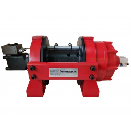 Hydraulic winch PWH30000 PRO EN14492-1 with tensioner